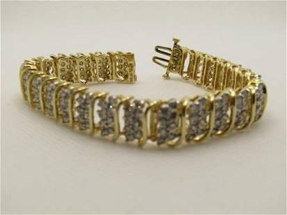 "Vintage Jafa 14kt Diamond Tennis Bracelet, 7.25"", Appx."