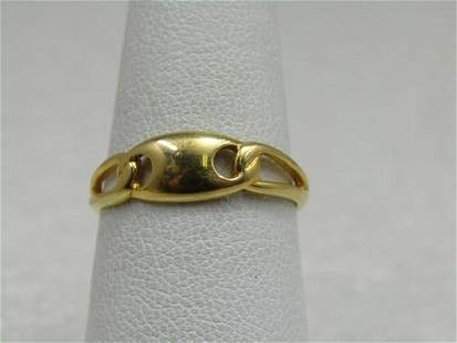 Vintage 18kt Gold Band Ring, Sz. 7.5, Marked .750