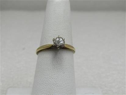 Vintage 14kt .50 CT Diamond Engagement Ring, Sz. 6.75,