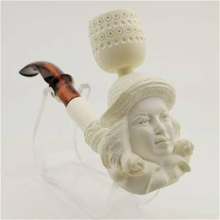 Royal Lady,Hand carved Meerschaum Pipe and Cigarette