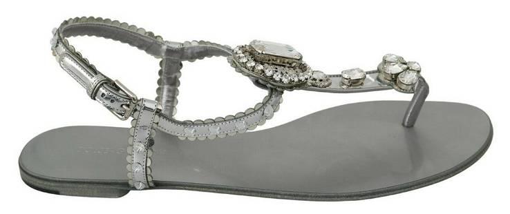 Dolce & Gabbana Jeweled T-Strap Sandals