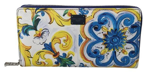 Dolce & Gabbana Majolica Dauphine Leather Continental