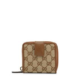 Gucci Signature Beige Canvas Wallet