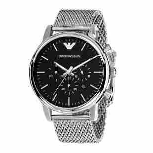 Emporio Armani Chronograph Silver Mens Watch