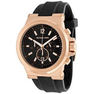 Michael Kors Chronograph Black and Gold Mens Watch