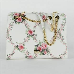 Bluemarine Womens White Floral Chain Bag