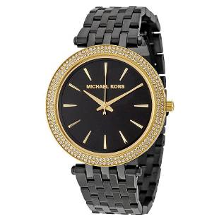 Michael Kors Darci Black and Gold Watch