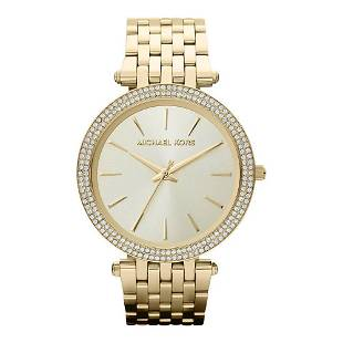 Michael Kors Darci Gold Watch with Cubic Zirconia