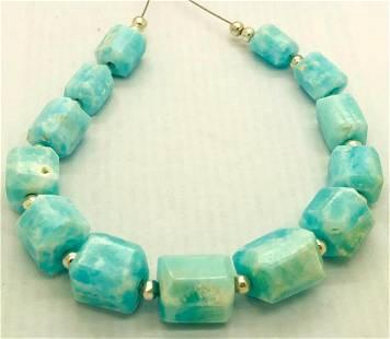 21.1 Grams Beautiful Aragonite Drilled Beads Strand