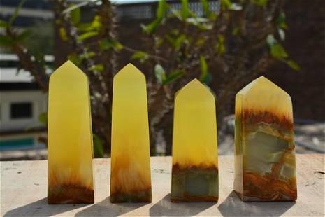 550 Grams Lemon Calcite Towers