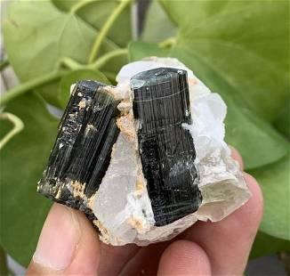 82 Gram Gorgeous Natural Tourmaline With Quartz & Mica