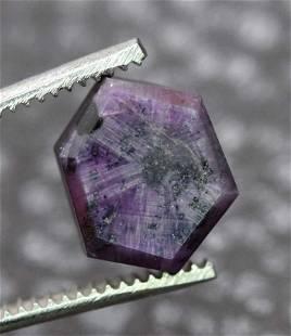 Trapiche Natural Dark Purple Color ~ Rarest Kashmir