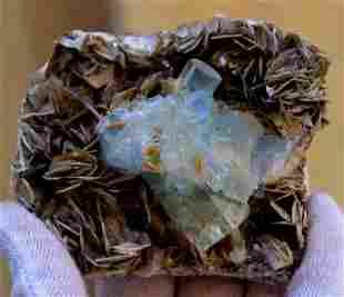 Aquamarine ~ Specimen Bunch Wtih Micca From Skrdu