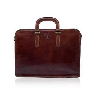 The Bridge Brown Leather Briefcase Handbag Work Bag