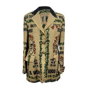 Moschino Cheap & Chic Vintage Beige Jute Blazer Size 46