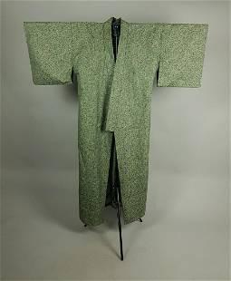 GREEN HEMP KIMONO