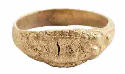 ANCIENT MEDIEVAL EUROPEAN RING 11-13th CENTURY JEWELRY,