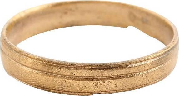 FINE VIKING WEDDING RING 850-1050 AD, SZ 13 1/4