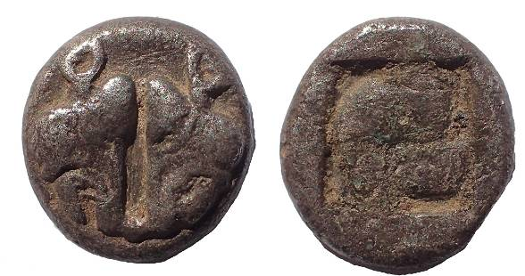 Lesbos, Unattributed early mint. Circa 500-450 BC.