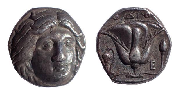 Caria. Rhodes. Didrachm (Circa 330-305 BC).
