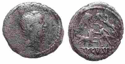 L. Livineius Regulus. 42 BC. AR Denarius, Venatones