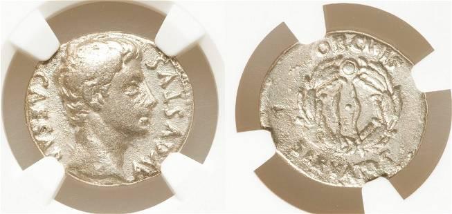 Augustus (27 BC-AD 14). AR denarius.