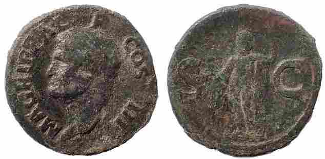 Marcus Agrippa, Lieutenant of Augustus (died 12 BC). AE