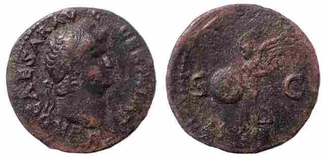 Nero. AD 54-68. Æ As. c. AD 66