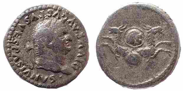Divus Vespasian. Died AD 79. AR Denarius. Struck under