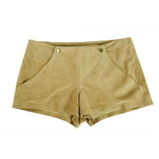 Jo Peters 100% Leather Suede Beige Shorts Pants