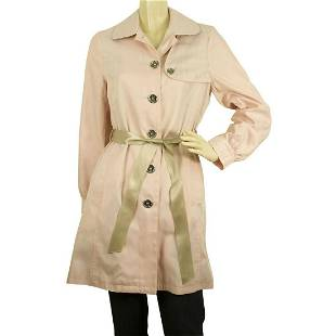 Burberry Girl's 14Y Pink Cotton Polyester Raincoat Mac