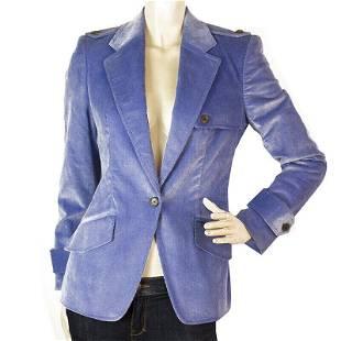 Carolina Herrera Cornflower Blue One Button Style