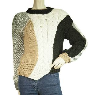 Oneonone Multicolor Asymmetrical Color Block Knitted