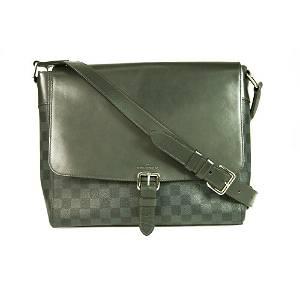 LOUIS VUITTON Damier Graphite Gray Black Messenger Bag