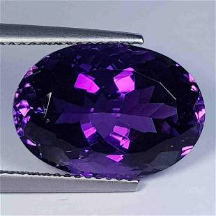 Nathural Amethyst Oval Cut 8.92 Ct