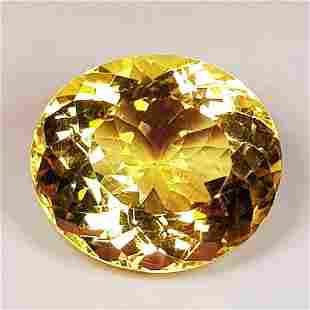 6.52 ct Natural Citrine Oval Cut