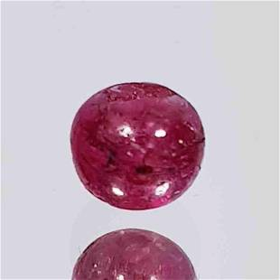 1.81 Ct Natural 5mm Ruby Bead Drilled