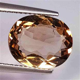 5.23 ct Natural Champagne Topaz Oval Cut