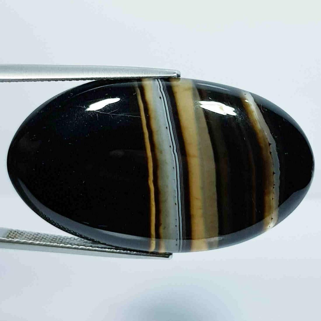 46.60 Ct Natural Black Lace Agate