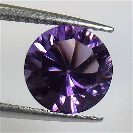 1.74 Ct Natural Purple Amethyst Round Concave