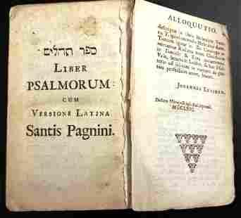 c1664 Liber Psalmorum Marquis Cornwall Bookplate