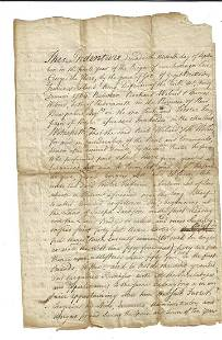 1765 Colonial Deed Signed by Delegate Albany Wibird