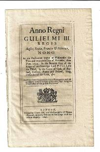 1697 English Act Plot to Assassinate the King
