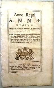 1708 Colonial America Coinage Act