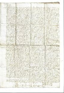 1675 Manuscript Conveyance Scotlande Mussleburgh