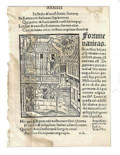 1497 Leaf Stultifera Navis Ship of Fools Woodcut