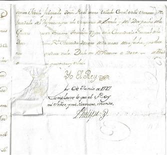 1747 Spanish Manuscript Reign of King Ferdinand VI