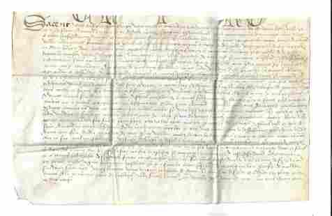 17th C Dutch Manscript on Vellum Amand