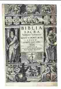 1603 Illustrated Title Leaf Biblia Sacra