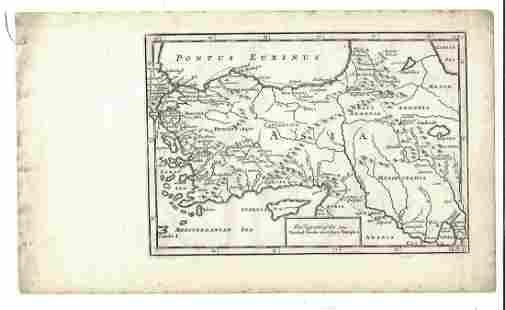 1747 Map of Retreat of Ten Thousand Greeks